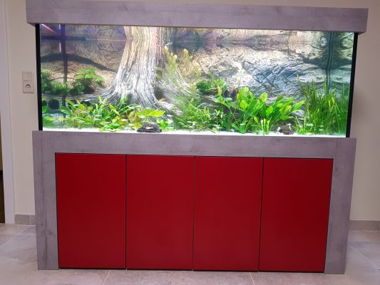 Aquarienkombination kaufen Rot und grau Admiral