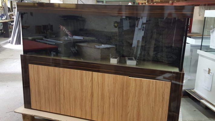 Aquarium Kombination Admiral Braun und Holzoptik