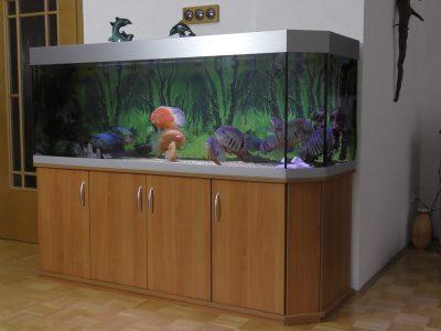 Aquarium-Kombination-Basic-Panorama-Kirsche-Oxford-Silber-Metallic-Diamant-geschliffen-Floatglas-Sonderanfertigung-Friedeberg-Moosgummiunterlage-12