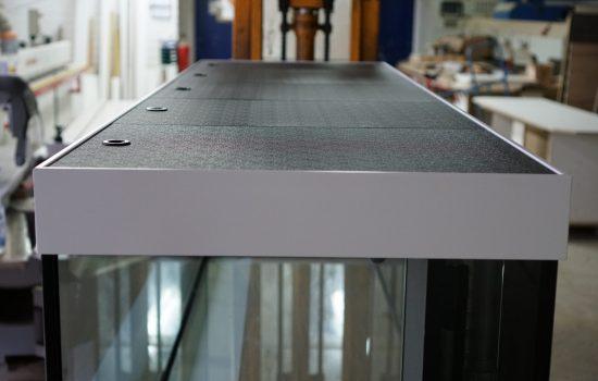 Modernes Design Möbel Aquarium Kombination mit LED und Filtertechnik Diamant Aquarium geschliffen mit Brillant Aquarium Qualität 13